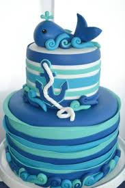 whale themed baby shower cake 17128