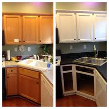 Diy Kitchen Cabinets Painting Diy Painted Builder Grade Oak Cabinets White Used Desander Liquid