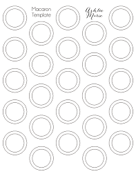 1 Inch Circle Template by S More Macaron Recipe Ashlee