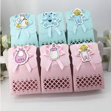 24pc creative baby shower party favor supplies laser cut baby boy