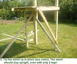 Stand Up Hunting Blinds Free Box Deer Stand Building Plans