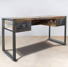 bureau design industriel bureau metal industriel fabulous desk in metal and black