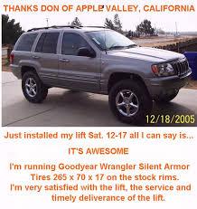 2005 jeep grand laredo lift kit wj 3 lift kit iron rock road
