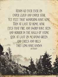 tolkien quote the hobbit mountains trees by pjeanartmachine