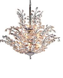 Shaded Crystal Chandelier Upside Down 18 Light Crystal Chandelier
