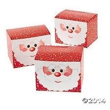 gift boxes christmas 12 cardboard santa gift boxes christmas treat boxes