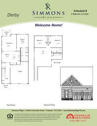 simmons ridge franklin tn real estate u003e floorplans u003e derby