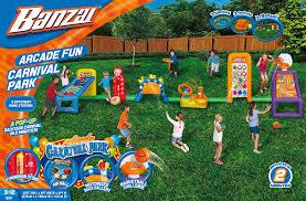 amazon com banzai carnival arcade play park inflatable playset