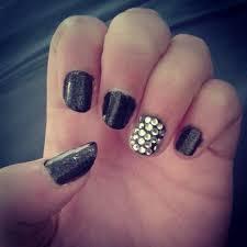 rhinestone nail art u2013 driftinglexi