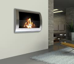 anywhere fireplace chelsea stainless steel wall mount fireplace