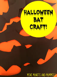 Bat Halloween Craft by Mini Monets And Mommies Bat Mobile Halloween Kids U0027 Craft