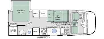 Rv Floor Plans Class A Vegas Class A Motorhomes Thor Motor Coach Meyer U0027s Rv Superstores