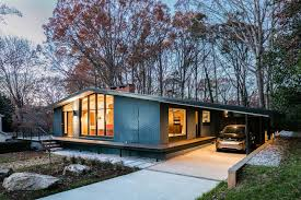 modern mid century this mid century modern house in north carolina received a fresh