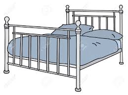 Drawing Of A Bed Hand Drawing Of A Big Metal Bed Royalty Free Cliparts Vectors