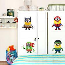Minion Bathroom Decor Superhero Minion Wall Sticker Living Room