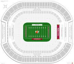 arizona cardinals seating guide university of phoenix stadium