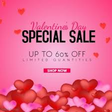 s day sales customizable design templates for valentines sales event