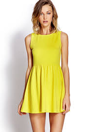 fit and flare dress forever 21 forever 21 fit flare dress in yellow lyst