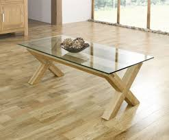 rustic oak coffee table with sliding rail