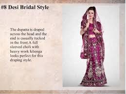 Different Ways Of Draping Dupatta On Lehenga 8 Bridal Lehenga Draping Style