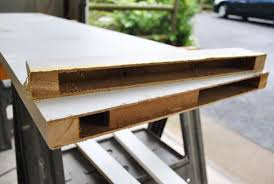 How To Build A Trestle Table How To Build A Desk With An Old Hollow Core Door Young House Love