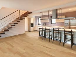 contemporary kitchen with hickory floors contemporary