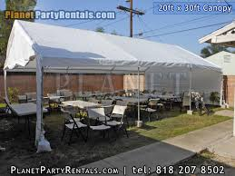 los angeles party rentals canopy 20ft x 30 ft canopy rentals san fernando valley sizes
