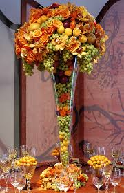 Fall Arrangements For Tables Fruit Tables For Weddings