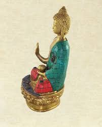 medicine buddha statue with turquoise u0026 coral mosaic detailing sivalya