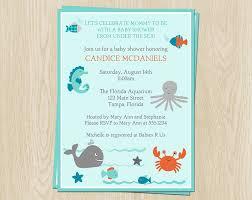the sea baby shower invitations baby shower invitations