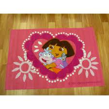 kids area rugs dora hearts 100x150cm bright many sizes cheap