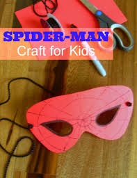 spider man mask craft kids perfect party spider man