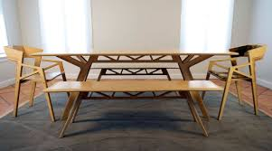 dining room modern dining room bench totally made of wood