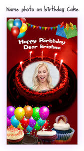 the birthday cake name photo on birthday cake for android free and