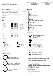 Free One Page Resume Template Free One Page Printable Resume On Behance
