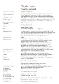 Sample Resume For Teacher Assistant by Resume Examples Example Cv Template For Personal Statement With