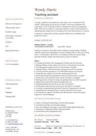 Daycare Teacher Resume Teaching Assistant Cv Template Sample Resume For Daycare Regarding