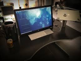 Macbook Pro Desk Mount Mac Setups Mac Pro With Swivel Mounted Apple Cinema 27 U2033 Display