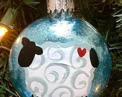sheep ornament etsy