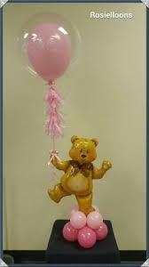 Teddy Bear Centerpieces by Balloon Teddy Bear Centerpiece With Pacifier Globos Pinterest