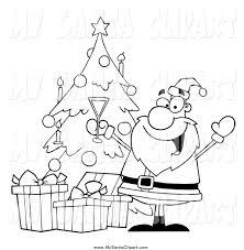 christmas tree clip art black and white christmas lights decoration