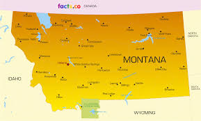 Montana On The Map by Montana Map Blank Political Montana Map With Cities