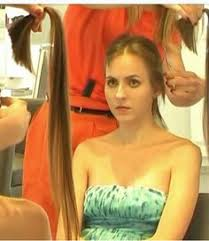 forced to get female hair style 21 year old brunete goes bald haircuts forced haircut and short