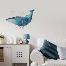 wall decals stickers home decor home furniture diy balena abstract art watercolor nature interior decor wall sticker decal