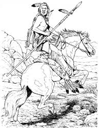 native american warrior coloring pages