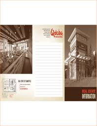 4 real estate brochure template outline templates