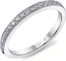 milgrain wedding band sylvie milgrain pave diamond wedding band sy808b