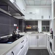 cuisine en direct agitateur blanc modulaire de luxe en bois massif des armoires de