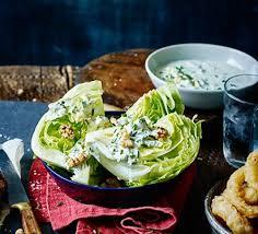 iceberg wedge salad with blue cheese dressing recipe bbc good food