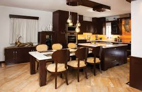 kitchen island pull out table complete home the contemporary kitchen miami by